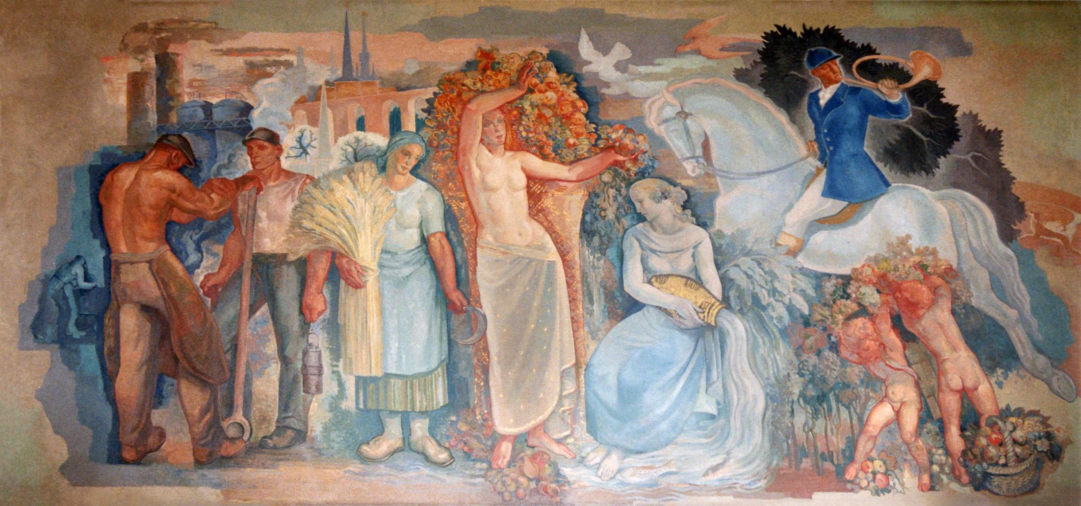 Gemälde Essbereich